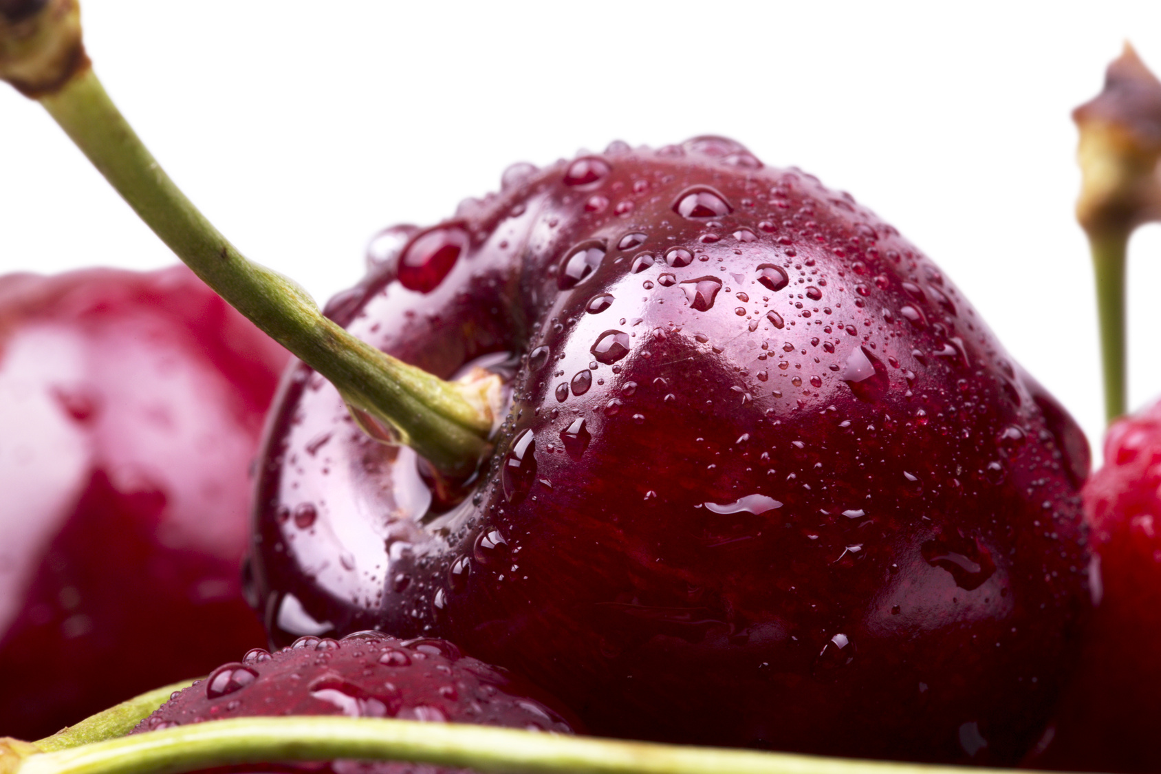 Sweet cherry macro background